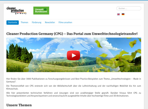 Projekt: Cleaner Production Germany
