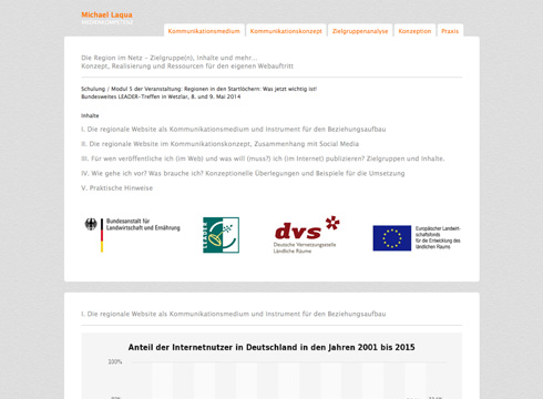 Projekt: Konzeption und Realisation von Webseiten