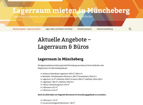 Projekt: Agrarprodukteverarbeitung GmbH Müncheberg