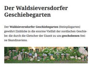 Projekt: Geschiebegarten